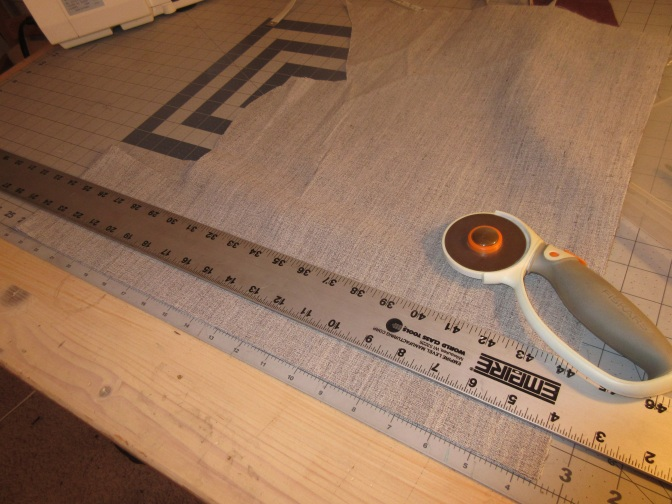 I use my cutting mat to measure as well as cut