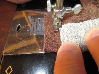 Finish off the end of the waistband
